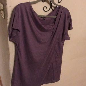Women's top short sleeves  purple size L